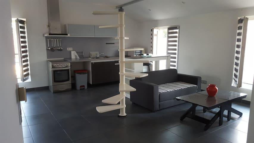 Appartement climatisé 45m2 proche commodité et mer