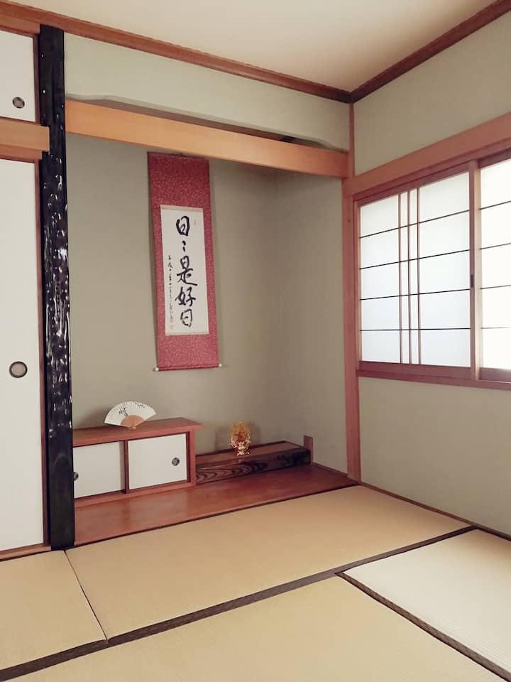 奈良の近鉄九条駅から徒歩4分【個室Bルーム和室】一軒丸ごとプランもあり。コンビニなどが近く便利