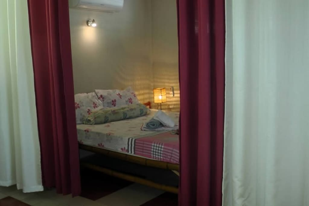 Bedroom with split aircon