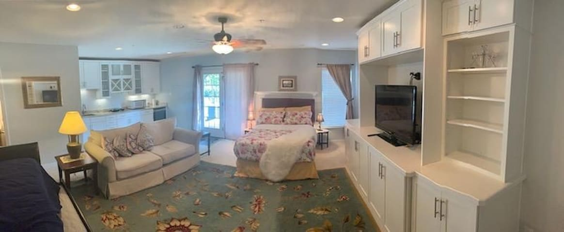 Luxury  furnished studio with spacious front yard
