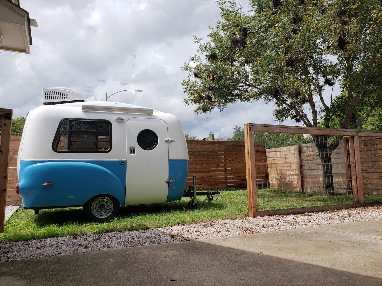 Your own private camper (we call her Superfly) and private lot!