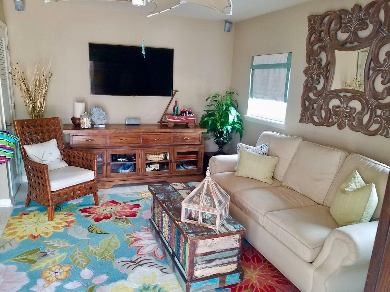 Guest House with Comfy Rollout Sofa and Large TV