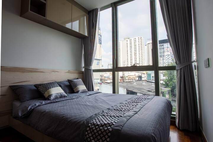New Comfy 1BR in Central BKK - Ratchathewi BTS
