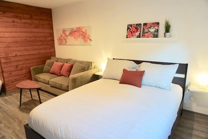 Pillow-top Queen size bed.