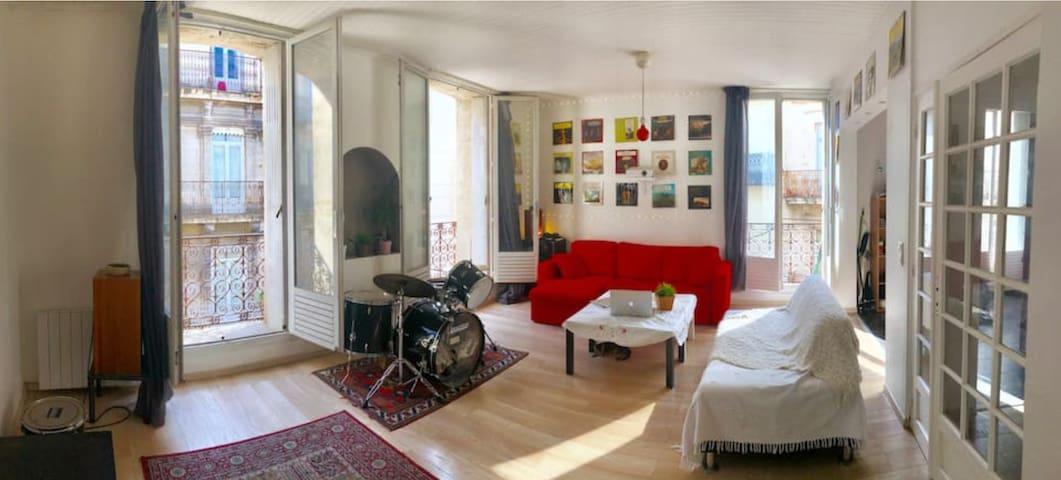 100m comédie, chambre cosy dans grand appartement