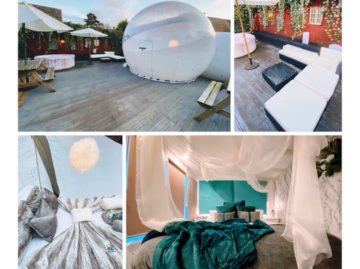 🌟 The Sleeping Bubble & Nook Cabin  with Hot Tub 🌟