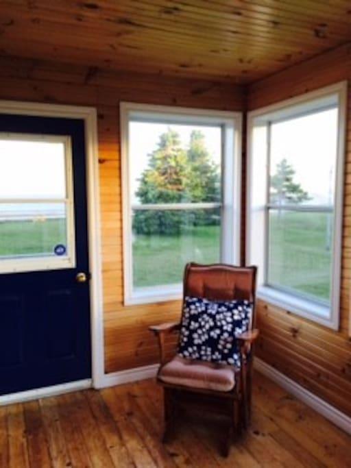 Peaceful porch entrance