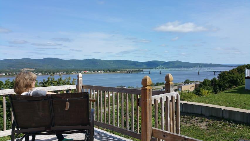Campbellton overlooking: River/Mountains/Bridge