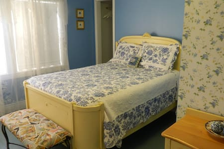 Blue Room's double bed.