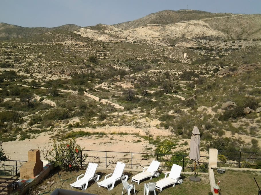 View from room and balcony over the hills