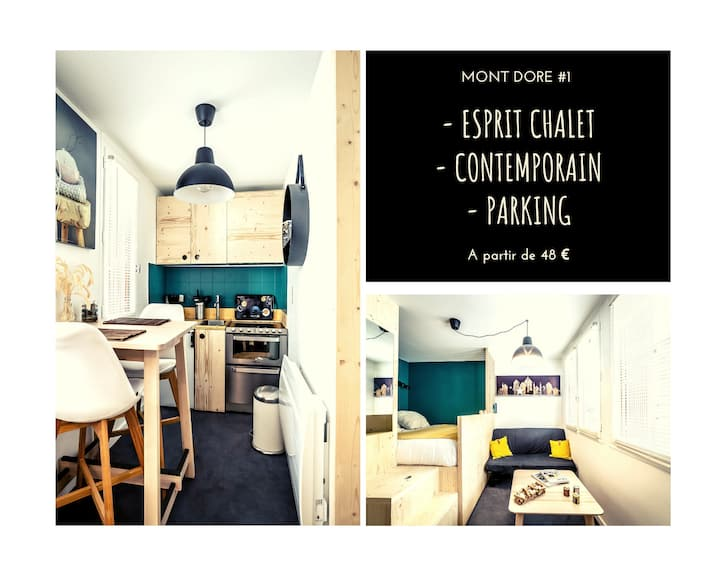 ★ Studio Esprit Chalet ★ Contemporain ★ Parking ★