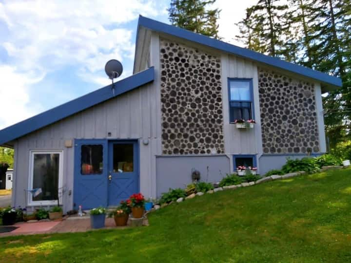 Unique Cordwood Country Home