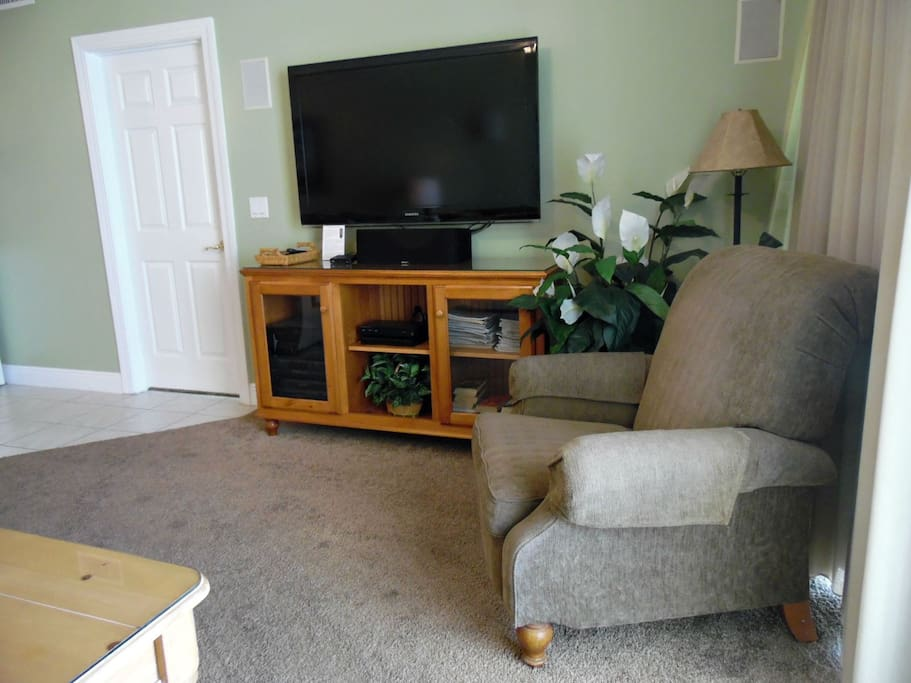 Large Flat Screen TV in the Living Room