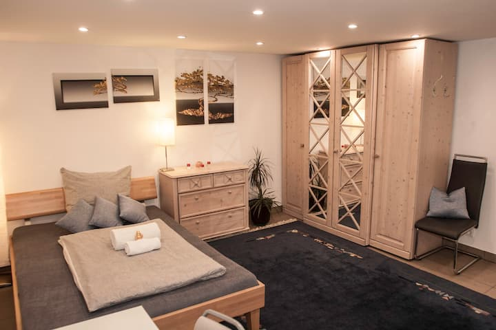 New cosy room, in basement, great area, at metro