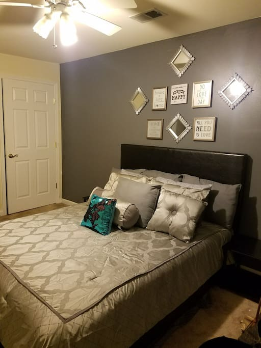 Our Gorgeous Master Bedroom Suite with Walk-in His and Hers Closet for your comfort and pleasure and Fun Fab Futon for the Kids.