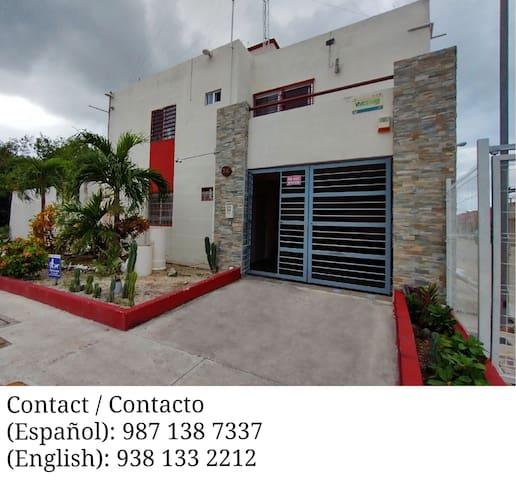 Cozumel- 3 BDR house, quiet n' safe neighborhood