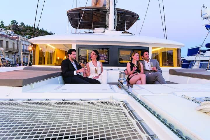 Emozione a bordo di un catamarano