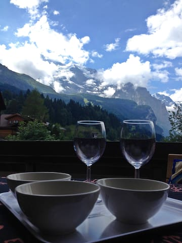 Apartment with balcony in WENGEN
