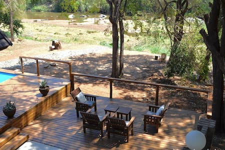 Hippo View Chalet at riverfront near Kruger