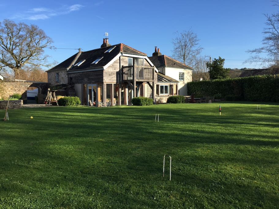 Lawn with croquet