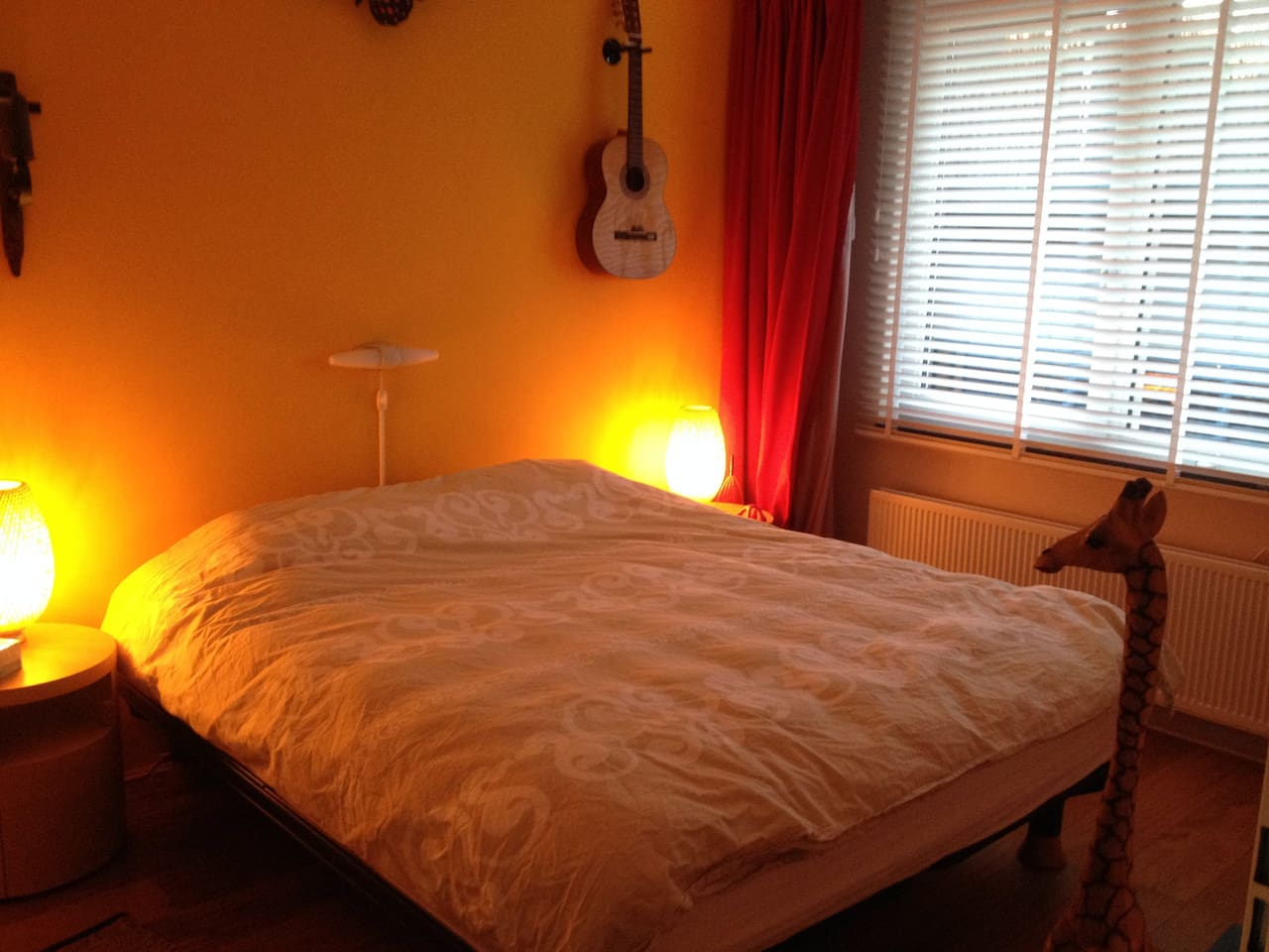 large bedroom with a kingsize supercomfbed!