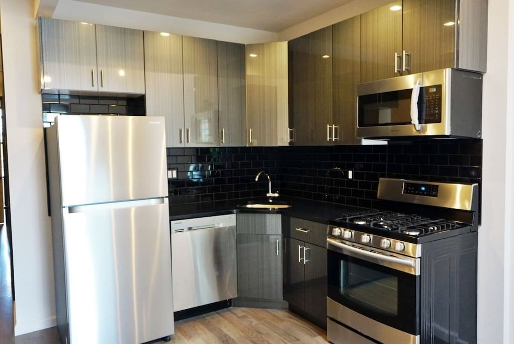 Guests are welcome to use the brand new fully equipped kitchen.