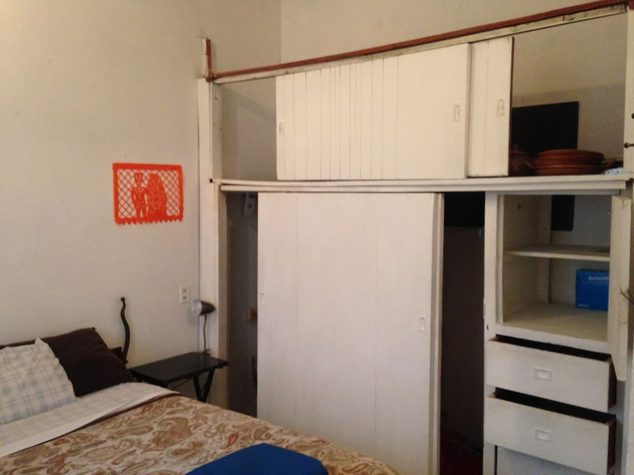 view of closet and storage area