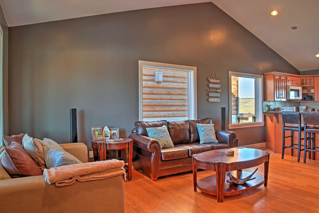 With beds for 8, this remodeled 1,650-square-foot home is perfect for families.