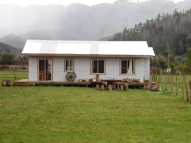 Cabaña con acceso al Lago Lleu Lleu