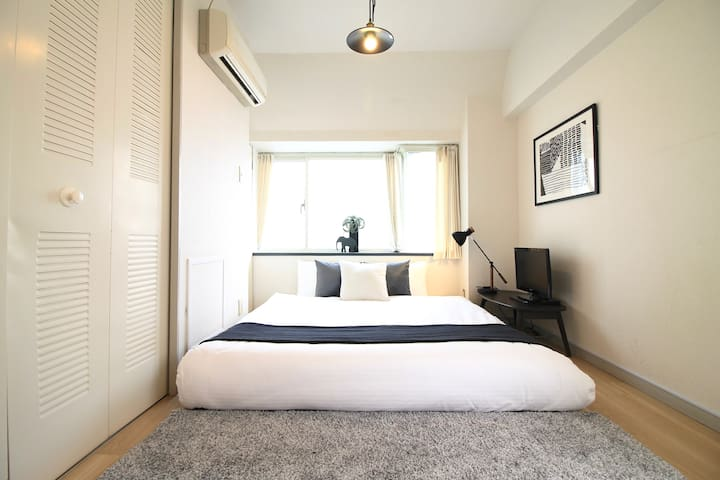 S5 3 min walk Peace Park museum stylish condo A