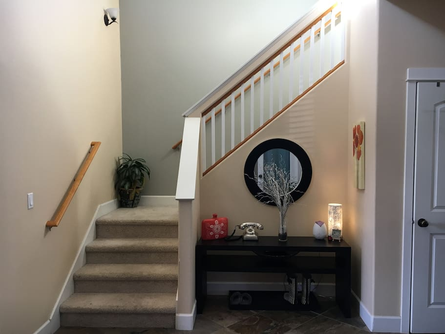 stairs and entry