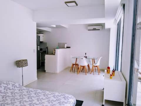 Monoambiente minimalista amplio y super luminoso