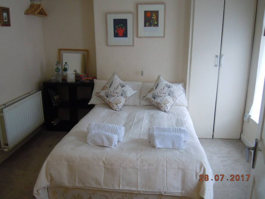 Comfortable spacious double bed
