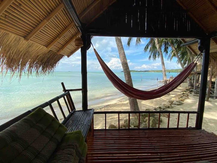 Right on the Beach. Castaway Beach Bungalows.