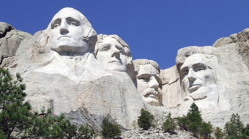 We are approximately 2 miles to Mt. Rushmore!