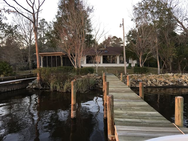 PEACEFUL WATERFRONT HOME on the BAY! GREAT VIEWS!! - Pensacola - Hus