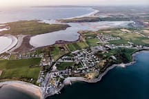 Fenit, Barrow, Banna, Ballyheigue from the air