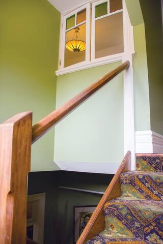 Parents please note, no filler panels below handrail.