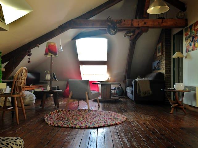 Appartement esprit loft sous les toits - Le Havre - Lägenhet