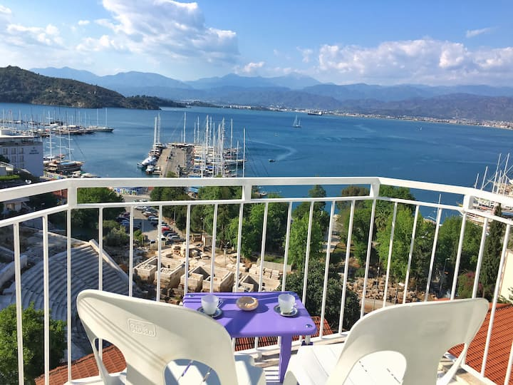 Unique Panaromic Full Sea and City View Of Fethiye