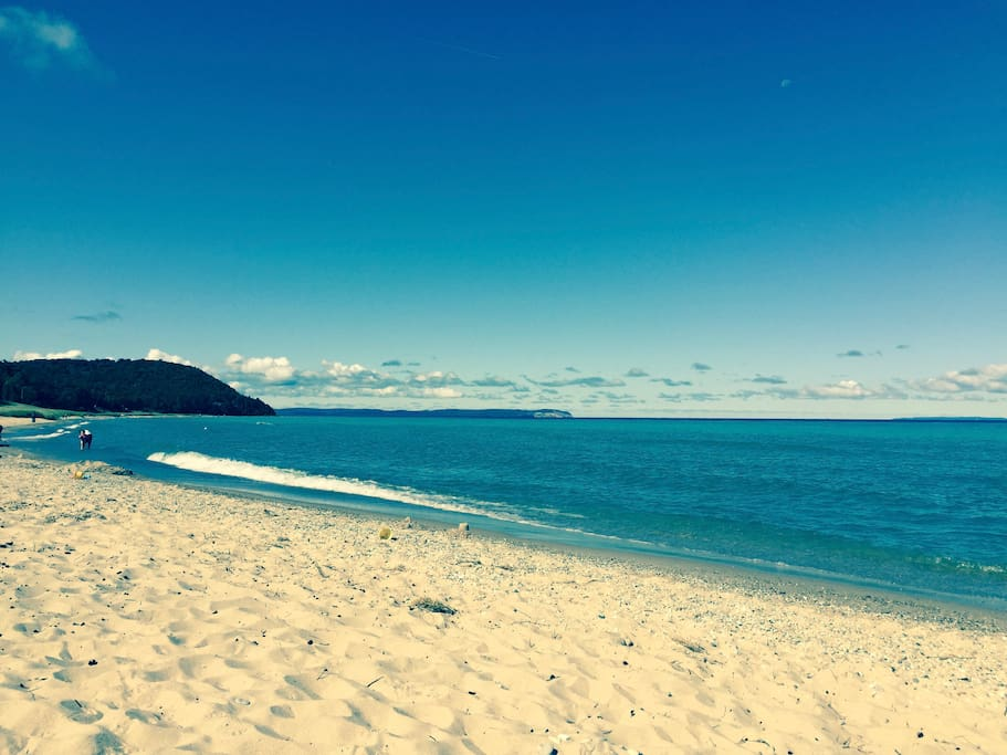Beautiful beaches a short walk from the home looking towards Whaleback Mountain!