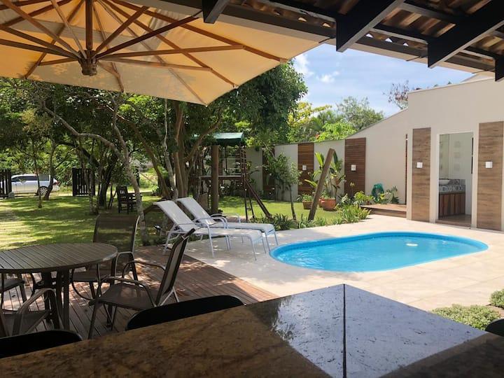 Canto do Aracuã - Casa com piscina - 250m da praia