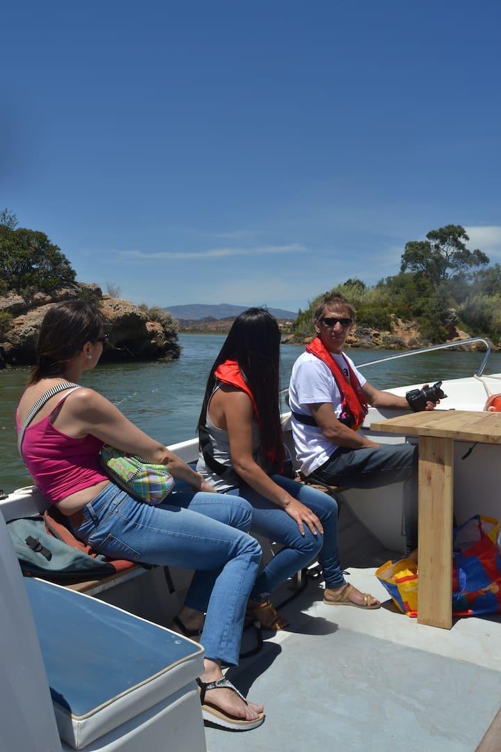 Rosario river island behind