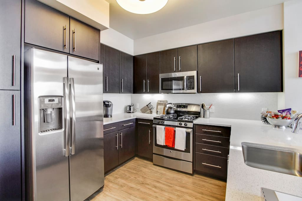 Gourmet kitchen with state-of-the-art appliances