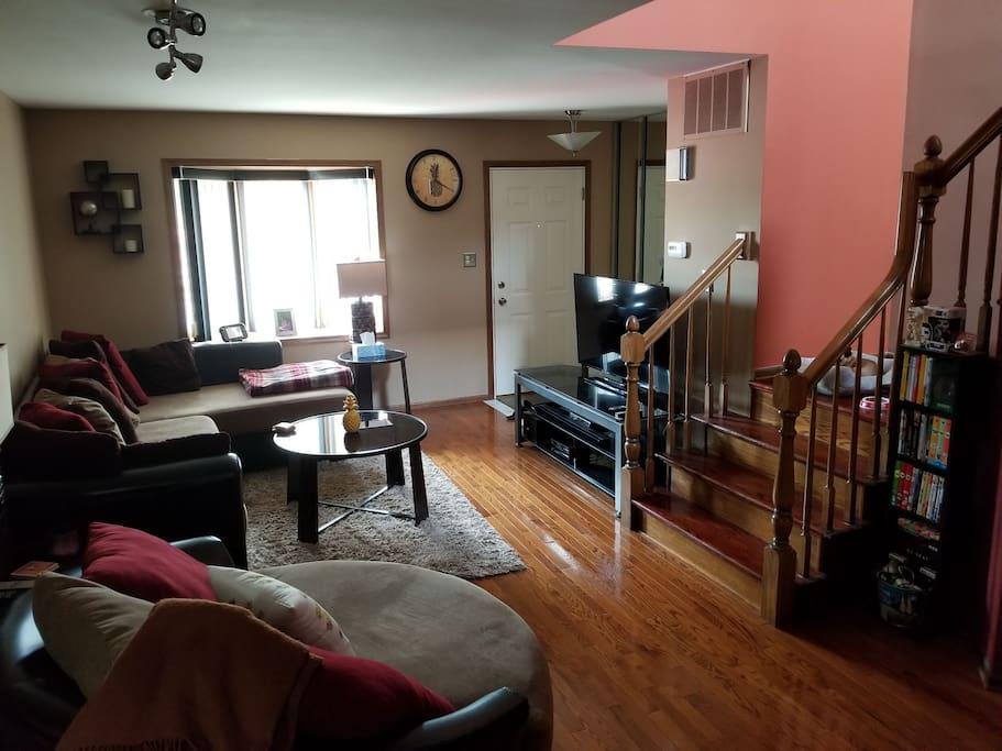 living room/front entrance