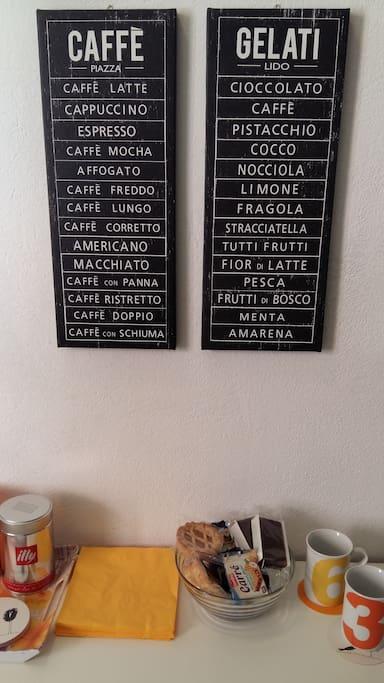Breakfast corner / angolo colazione
