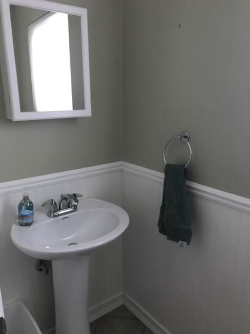 Small bathroom w/out shower!