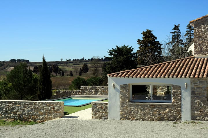 Splendide maison en pierre proche de Carcassonne - Ventenac-Cabardès - Hus