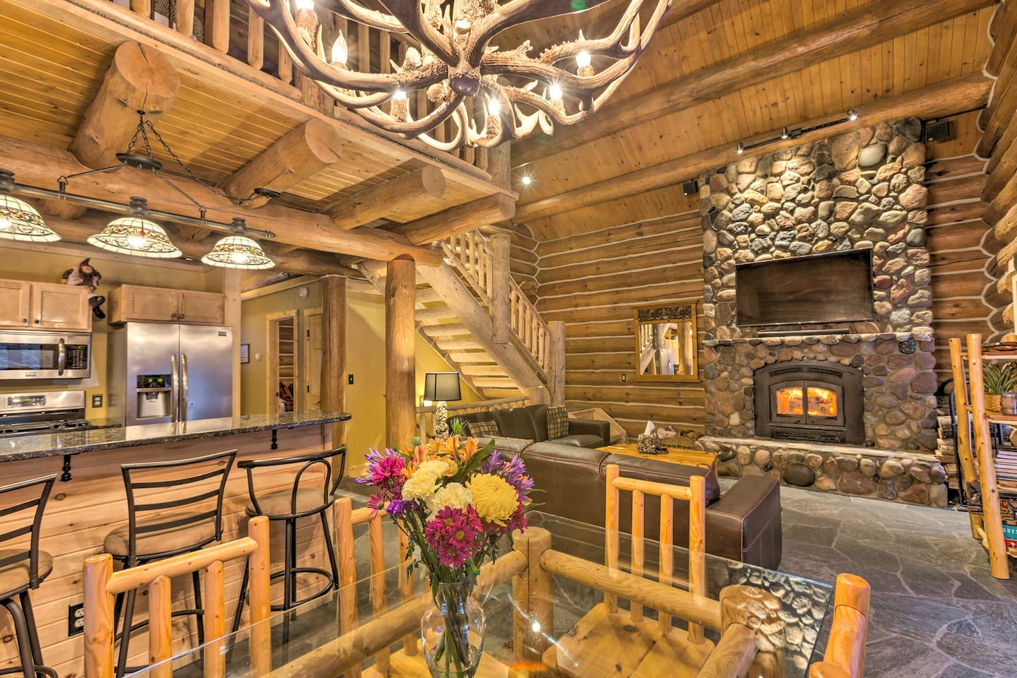 Escape to Traverse City and stay at this cozy vacation rental cabin.