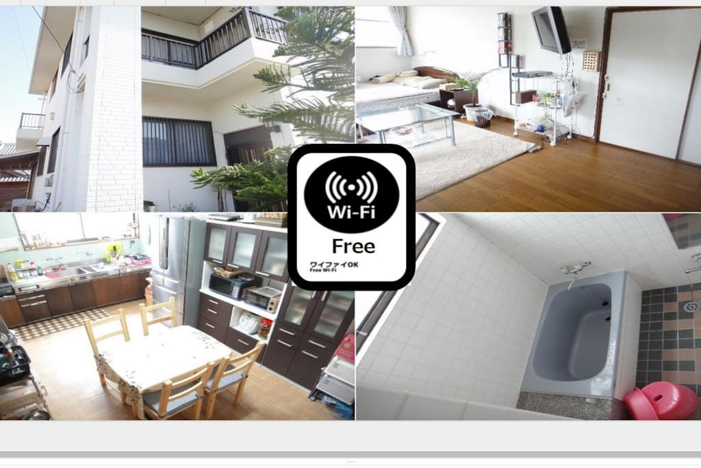 All rooms Free Wifi【全部屋フリーWifi】